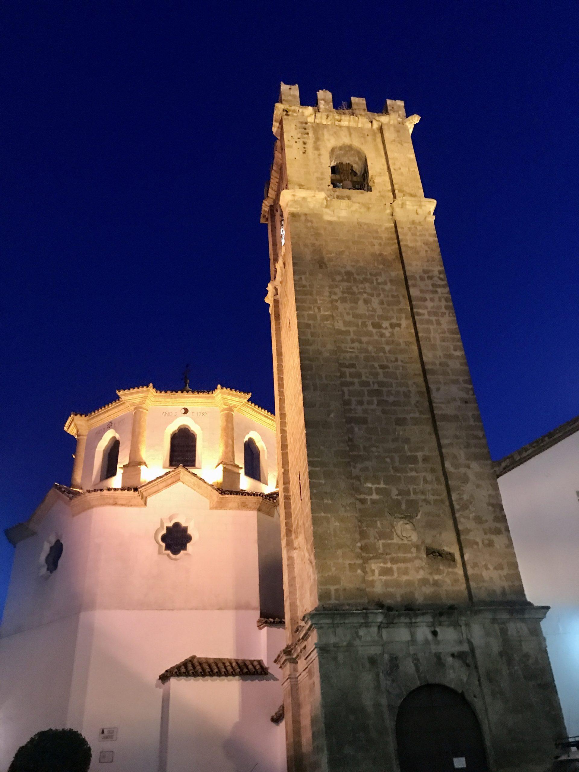 The church of Ntra. Sra. de la Asunción at night