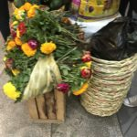 Flowers and baskets