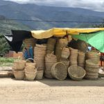Loads of baskets next to the Mercado Campesino