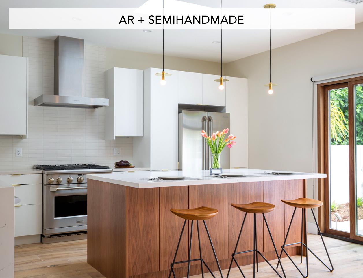 IKEA Kitchen cabinets, after market doors, custom doors from Semihand made