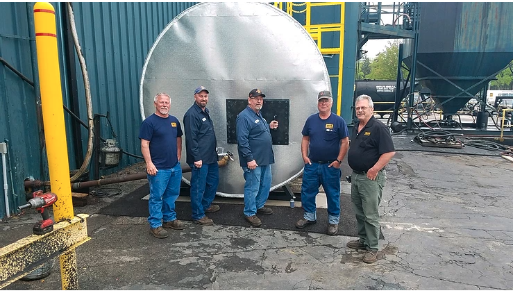 Great Lakes Coatings Fabricates 10,000 Gallon Hot, Insulated, LPSB Holding Tank