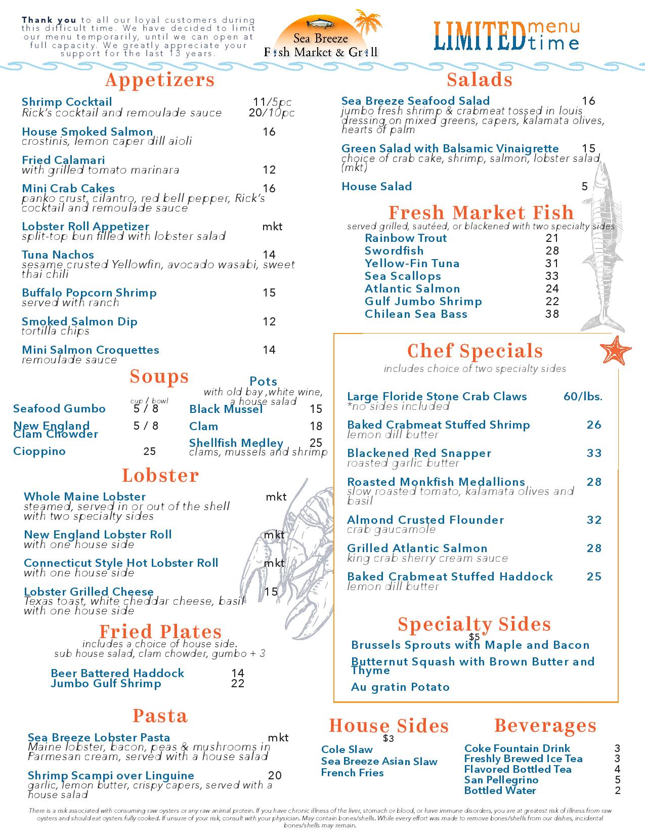 1/28 Updated Menu