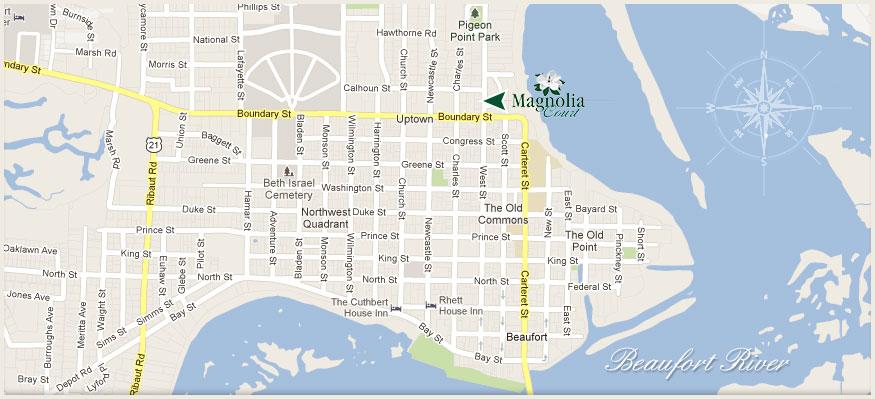 Magnolia Court Suites Location   Beaufort Long Term Rentals