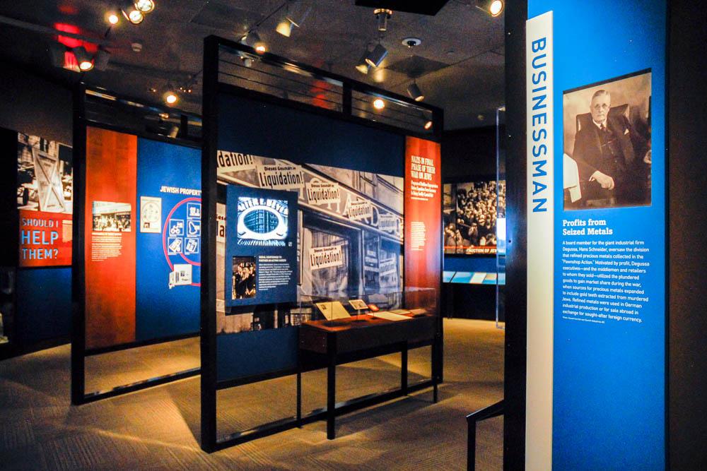 walls of holocaust displays