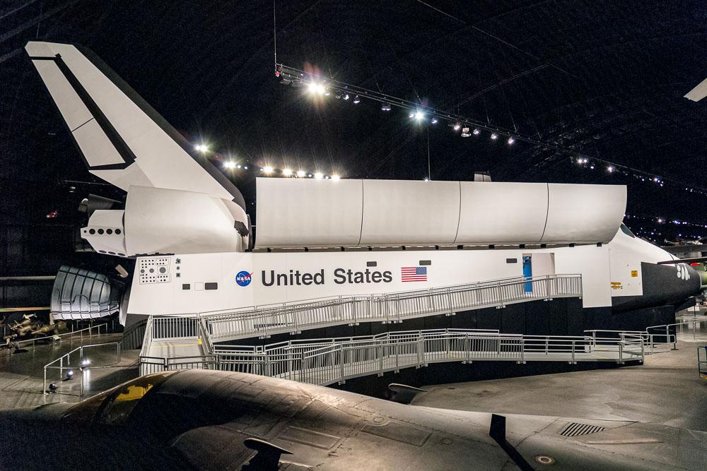 shuttle in museum