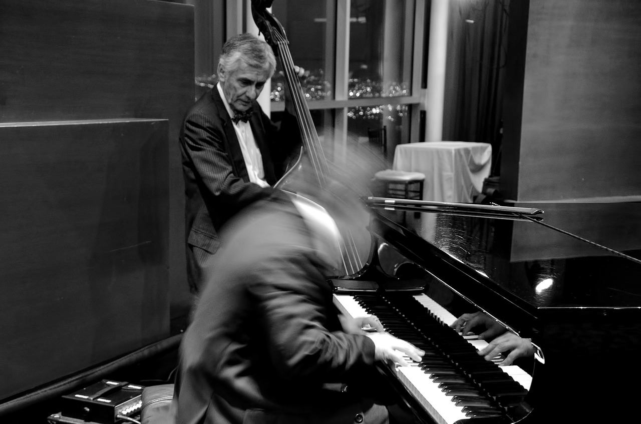 jazz, bass, piano