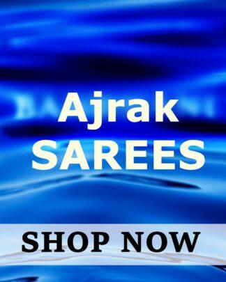 Ajrak Saree