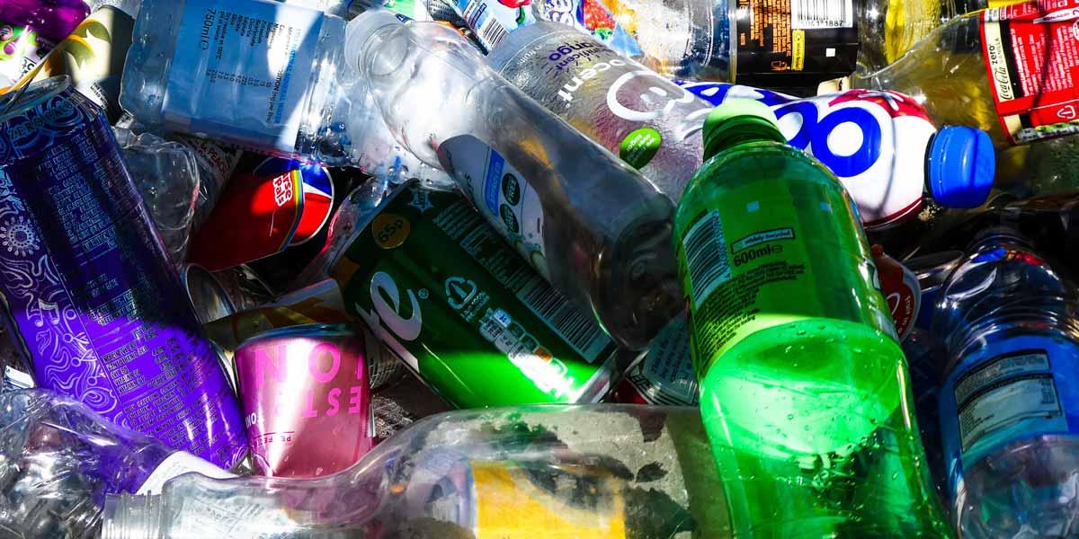 Pile of plastic bottle waste