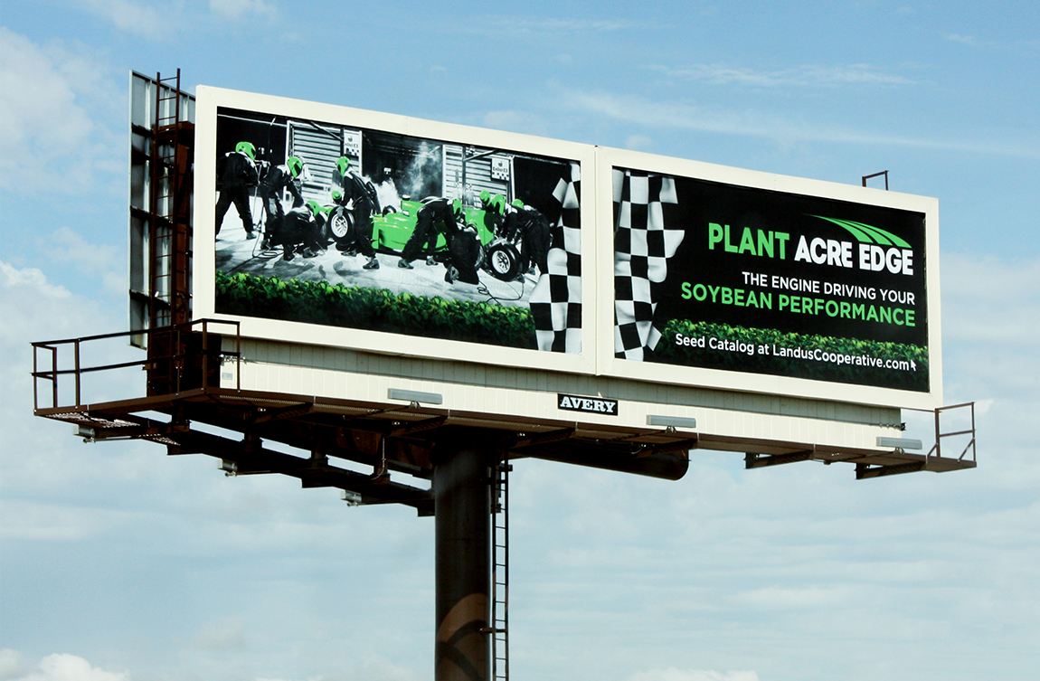 Landus Cooperative - Billboard Copywriting and Design
