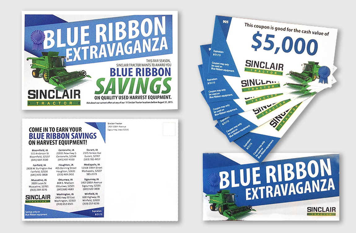 SINCLAIR TRACTOR BLUE RIBBON PROMOTION