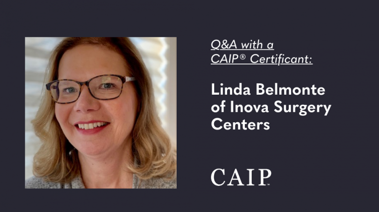 Q&A with a CAIP Certificant: Linda Belmonte of Inova Surgery Centers