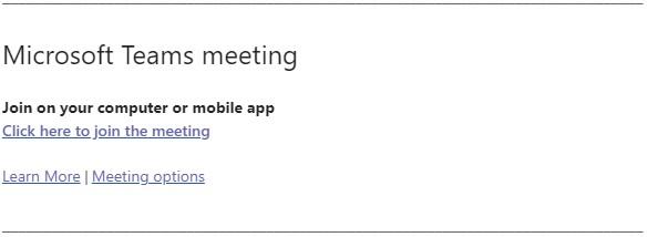 Join Microsoft Team Meeting