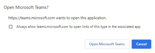 Join Microsoft Teams Meeting Open