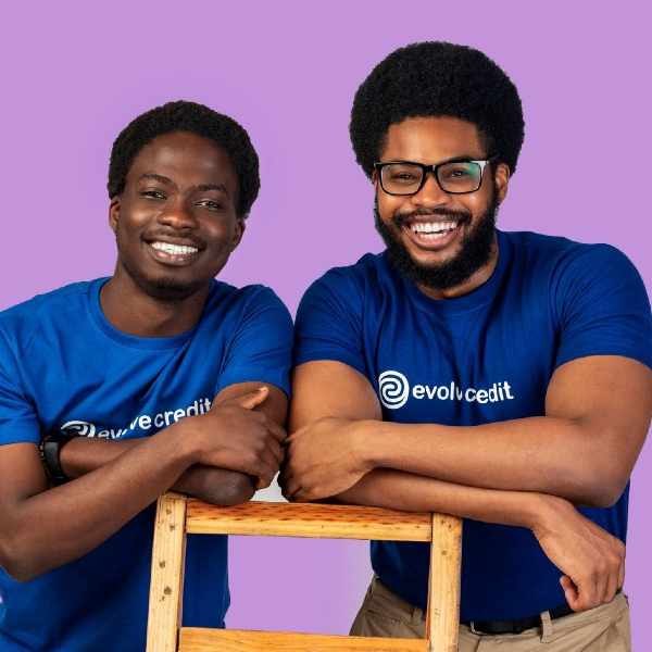 Evolve Credit founders. L-R: Daniel Osineye and Akan Nelson.