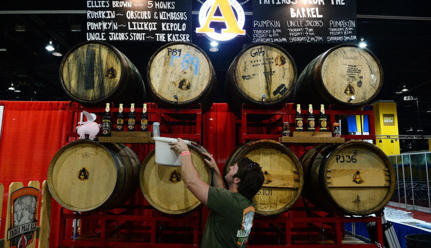 Vendors set for the Great American Beer Festival at the Convention Center in Denver, CO on