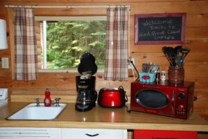 Red Pine Rental Cabin at Holiday Pines Resort in Port Wing, Wisconsin