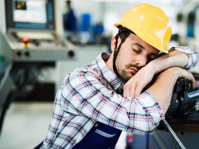 worker sleeping