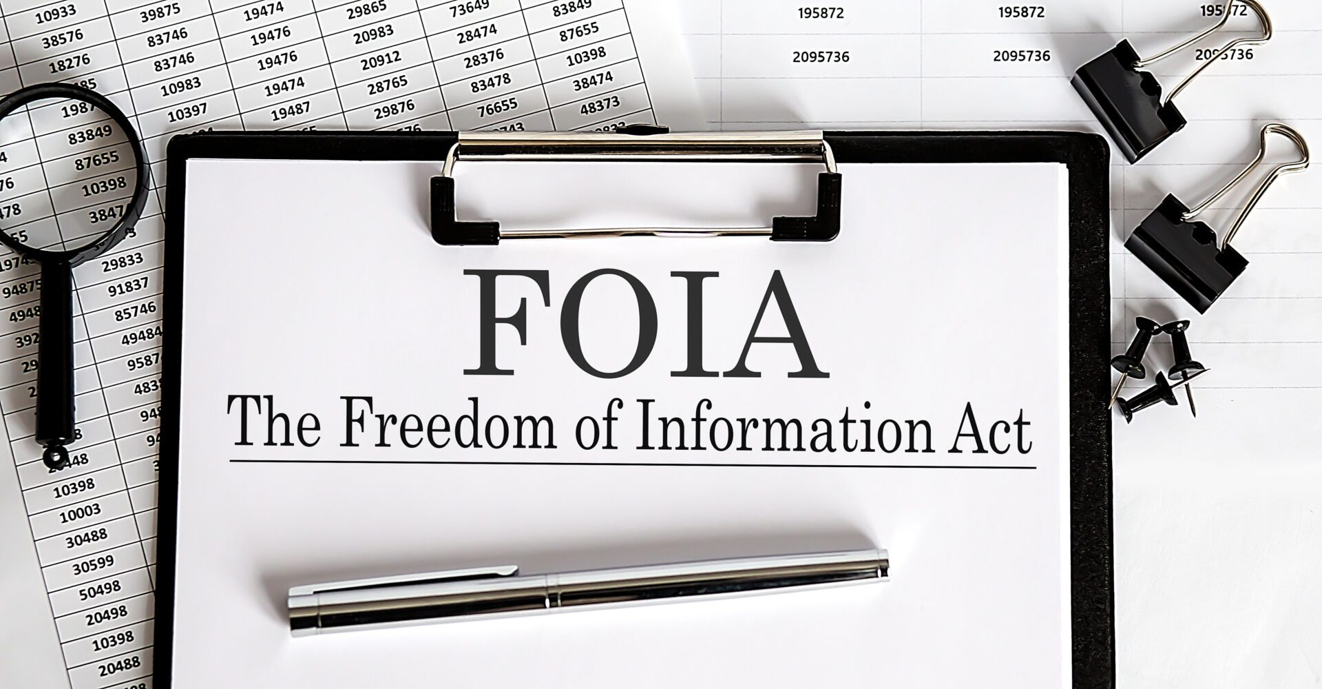 Paper,With,The,Freedom,Of,Information,Act,Foia,On,Table