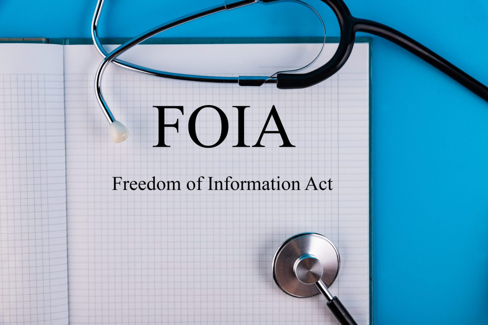 Notebook,With,The,Freedom,Of,Information,Act,Foia,On,A