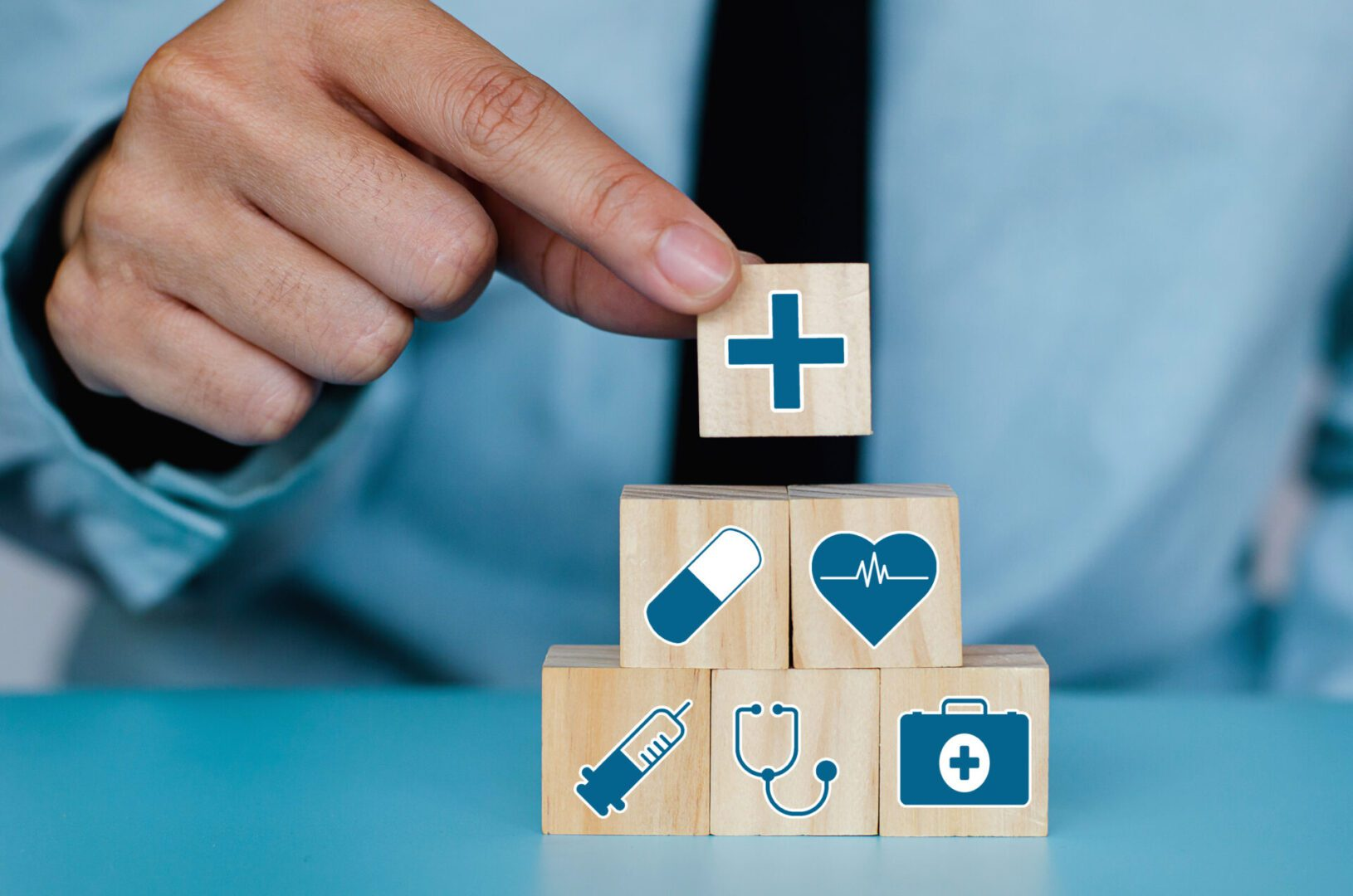 Good,Healthcare,And,Insurance,Concept.business,Hand,Choose,Plus,Sign,On