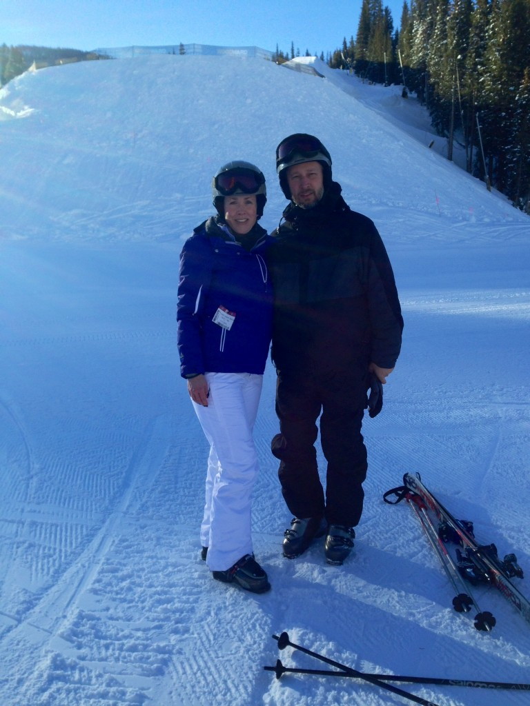 Our first day at Copper Mountain, before I tried to ski. At least I look like I might know what I'm doing.