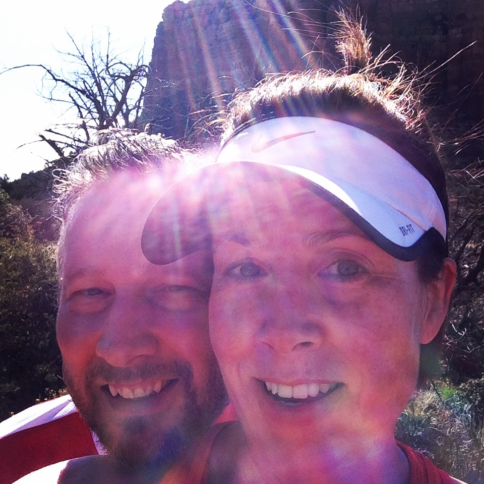 My running buddy and me in Sedona this spring