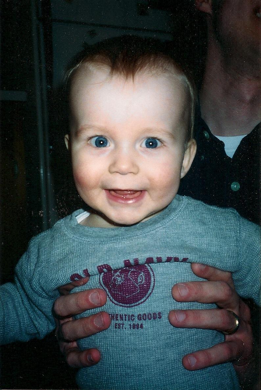 Sam baby smiles