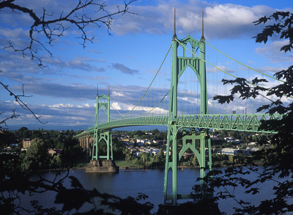 St. John's Bridge, Portland, Oregon (Source: The Fulton House)