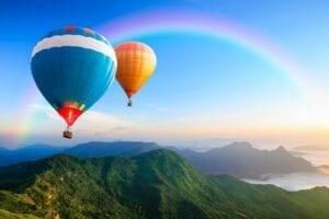 Edison Avenue hot air balloon
