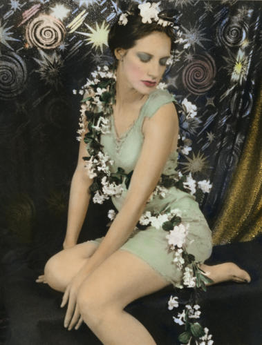 Fairy Queen 2002, black and white, silver gelatin print, hand colored