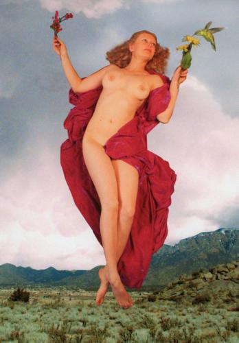 Hemera Day Goddess, with Hummingbird, 2010, digitally enhanced color print
