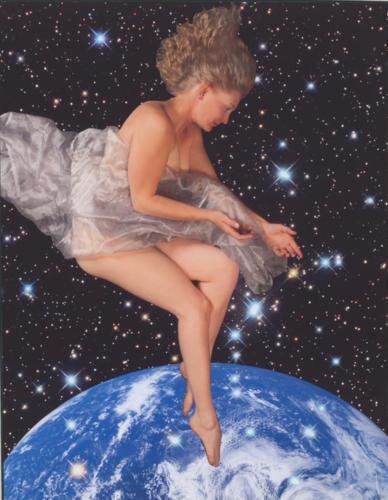 Star Goddess II 2010, digitally enhanced color print