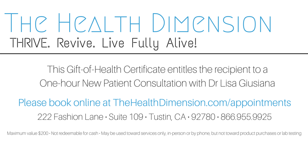 New Patient Gift Certificate