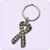 black ribbon key chain