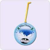 Blue Holiday ornament
