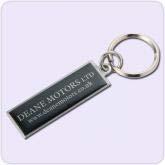 black metal key chain