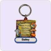 key chain picture frame with beach design