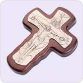 cross with brown design