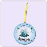 Christmas ornament with blue motif