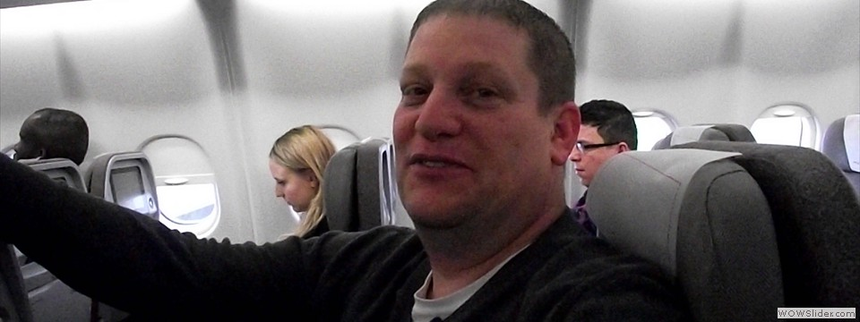Pastor Wes in flight to Valencia, Spain