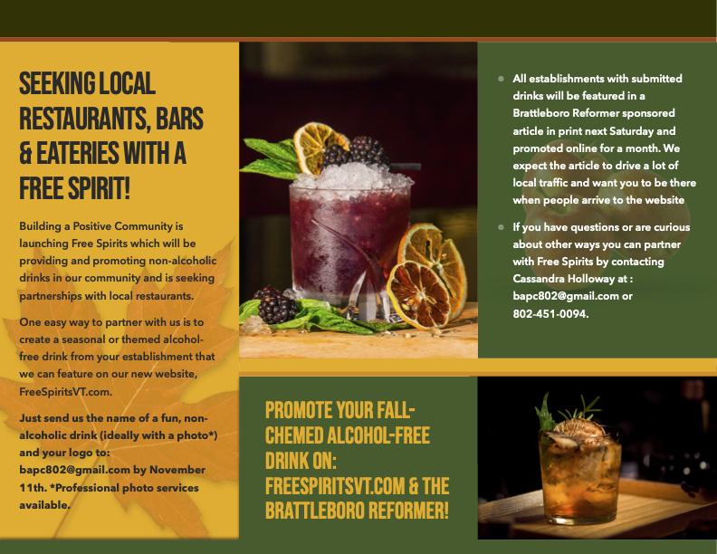 Seeking Local Restaurants, Bars & Eateries With A Free Spirit!