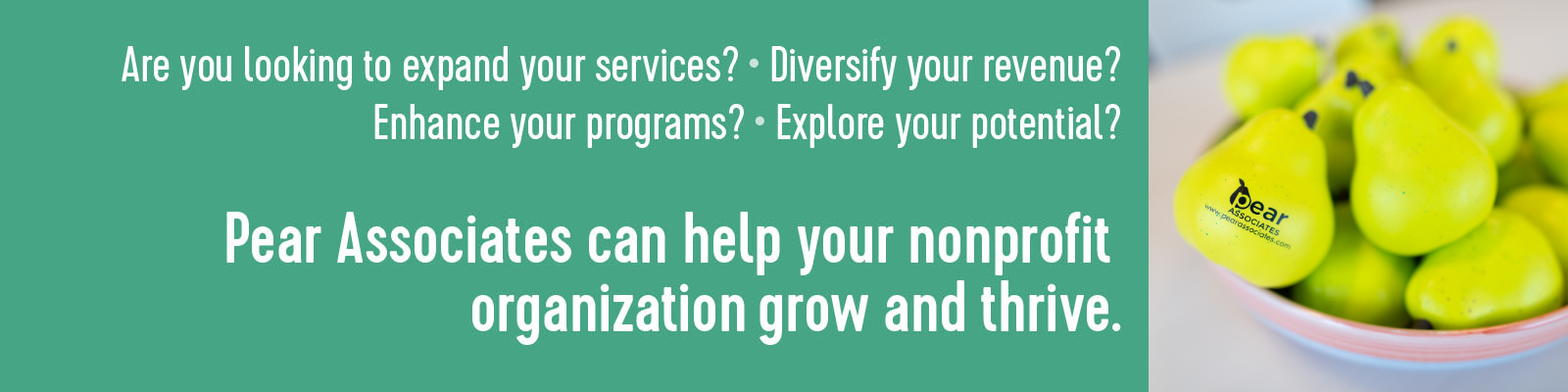 Pear Associates can help your nonprofit organization grow and thrive