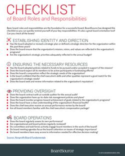 boardsource checklist