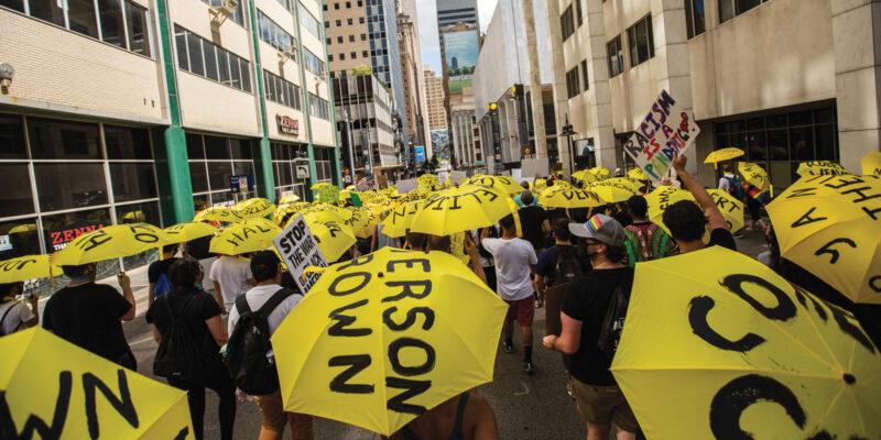 BLM protest | Yellow Umbrellas BLM