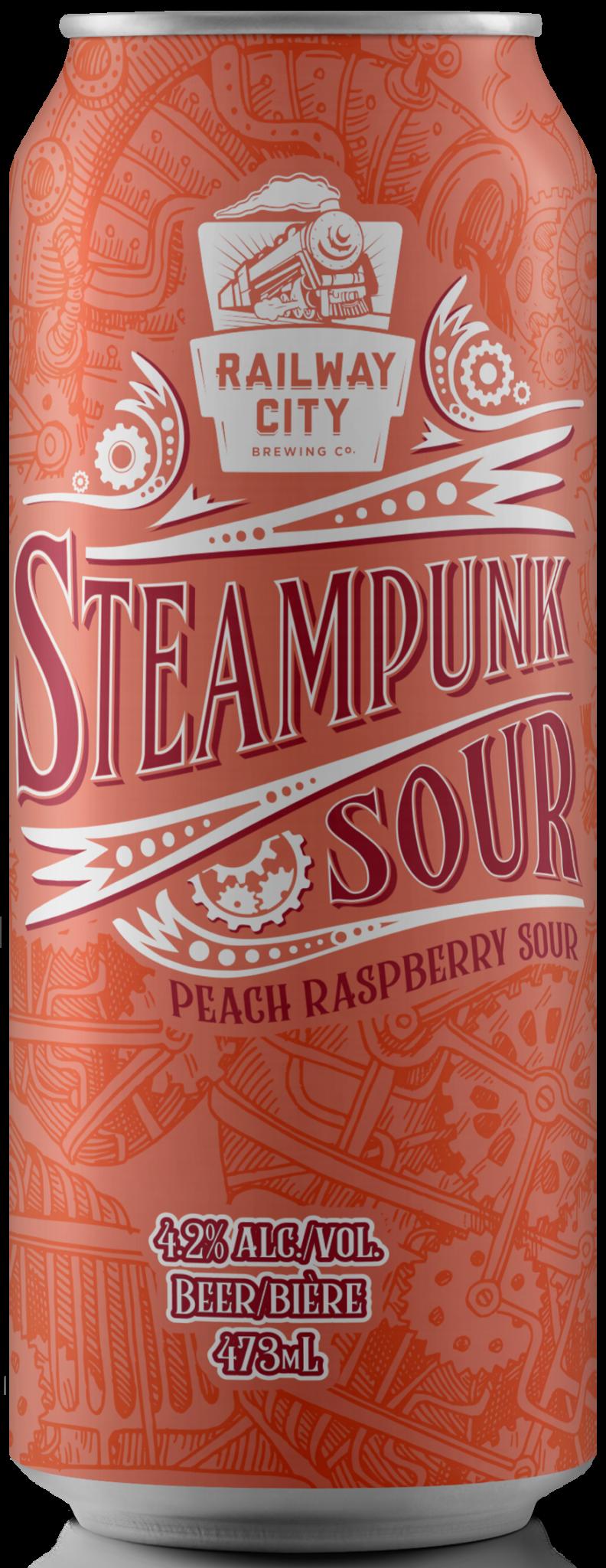 Steampunk Sour Peach Raspberry Can