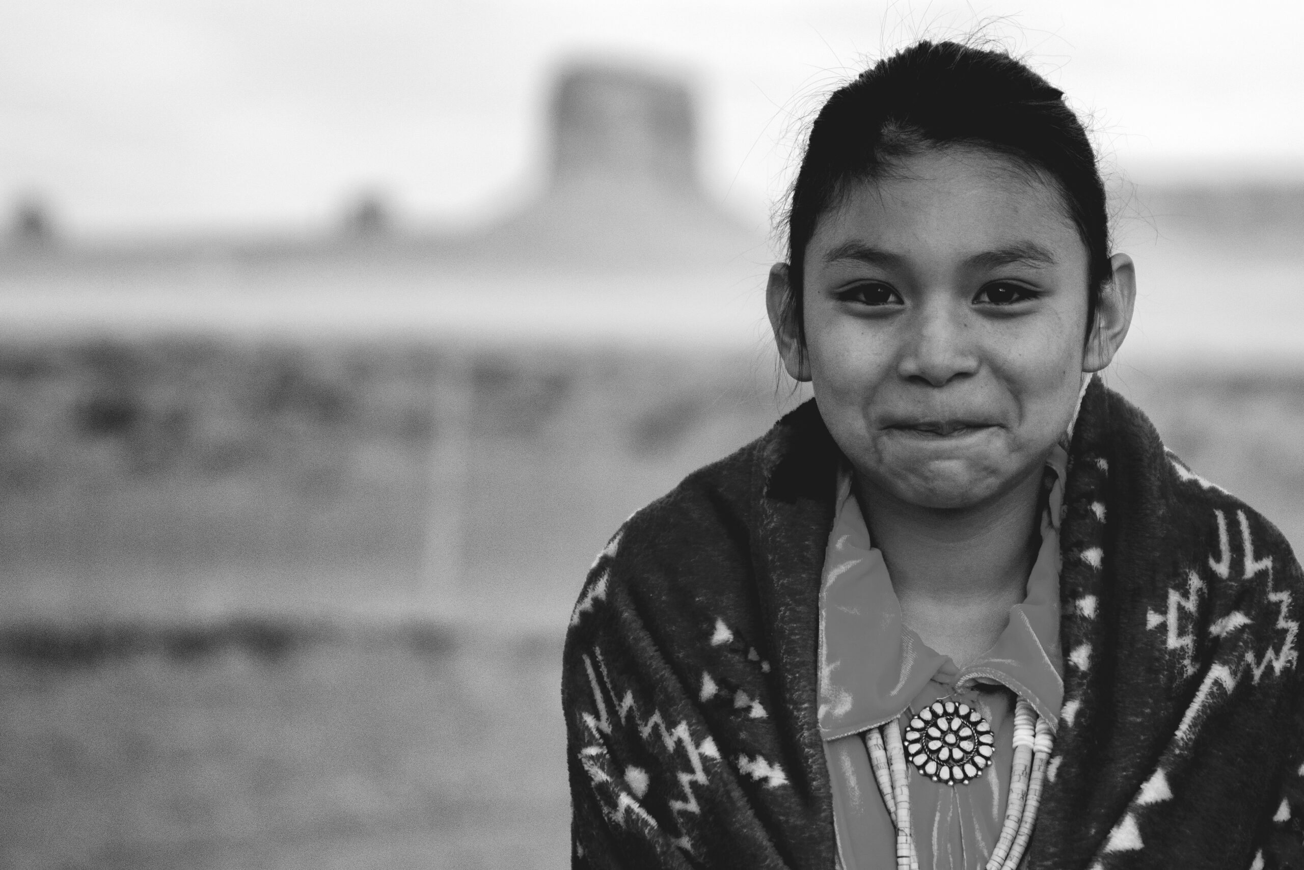A Young Navajo Girl Who Lives in Monument Valley, Arizona