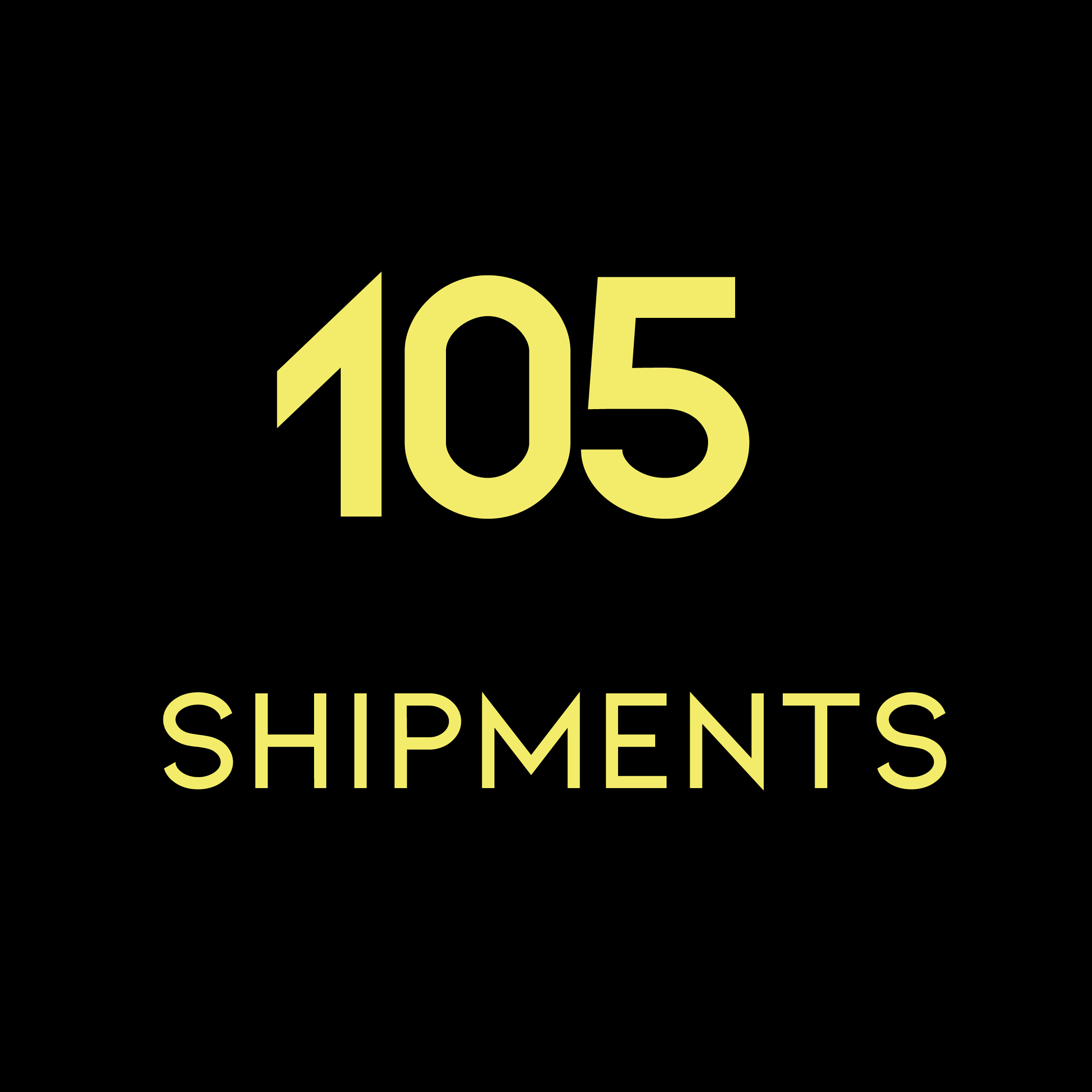 105 Shipments
