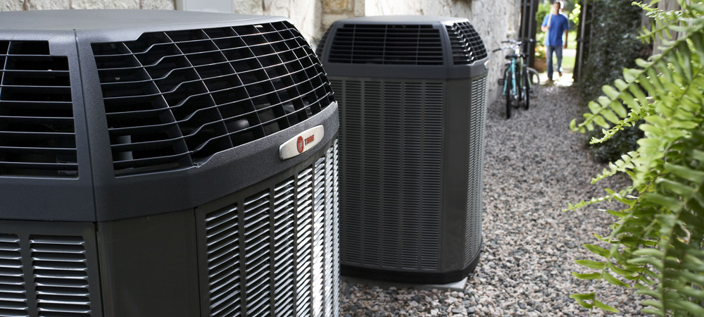 Trane units operating after air conditioning service by Chaffee Air