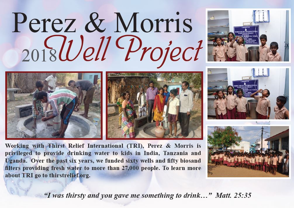 Card from the 2018 Perez Morris Well Project
