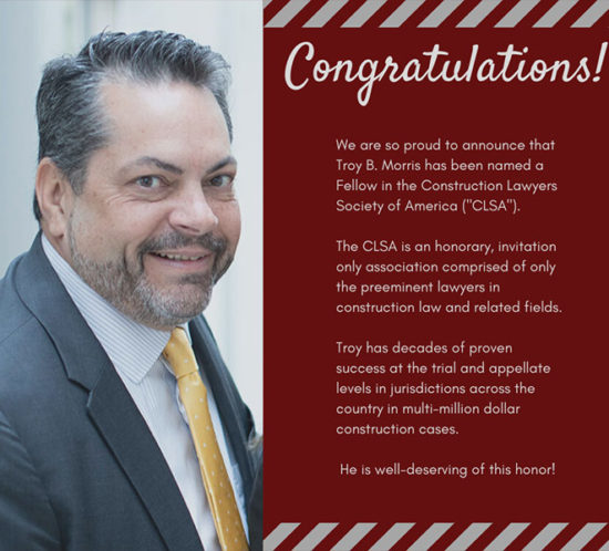 Troy B. Morris named fellow in CLSA headshot